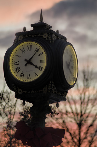 sunset clock maine waterville topaz pentaxk30 autosears135mmf28macro