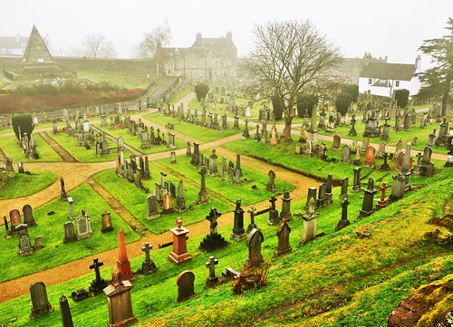 Misty morning graves..