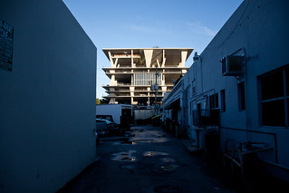 1111 Lincoln Road Parking Structure Seen Through an Alley - Miami Beach, FL