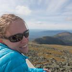 Emily at the observation deck, Mount Washington