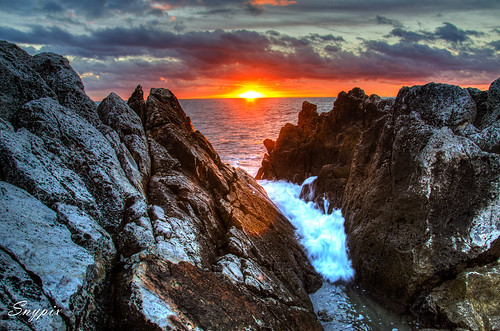 sea sun rock sunrise seaside nikon ngc frenchriviera nikonuser