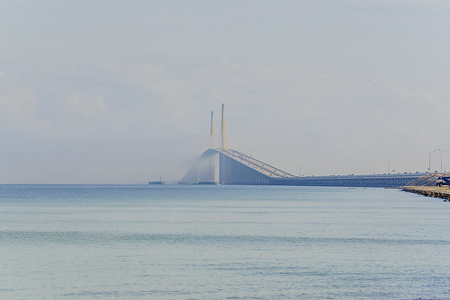 Marine Layer rolling through Sunshine Skyway Bridge - Timelapse 7/11