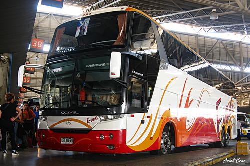 Buses Evans en Terminal San Borja | Comil Campione 4.05 HD / DRYB90