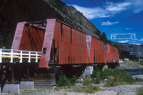 The Red Bridge in Keremeos, Similkameen Valley, South Okanagan, British Columbia