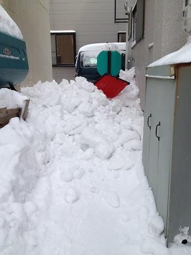 屋根の雪下ろし 2014-2-1 No.2