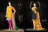 Yellow Kurtis and Salwar by anviboutique