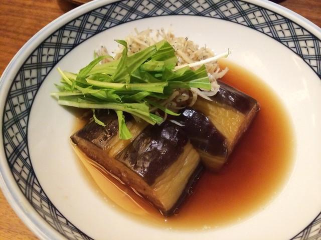 Stewed eggplant, Keyaki, Pan Pacific Hotel