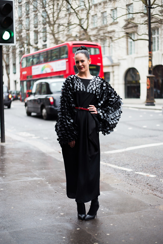 Street Style - Kim Jean Alva Peters, London Fashion Week
