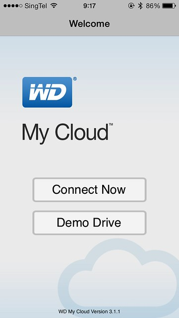 WD My Cloud iOS App - Login