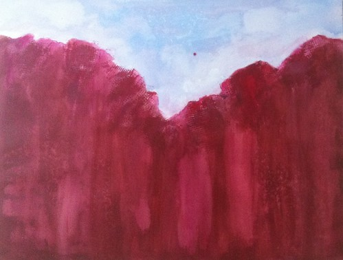 Red Canyon (Acrylic Water Media) by randubnick