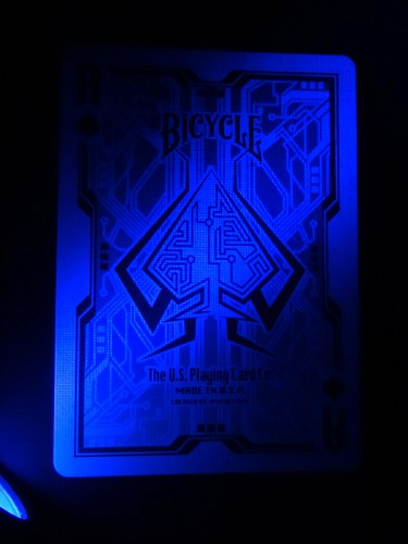 Grid 2.0 Playing Cards Ace under Blacklight