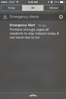 Portland City Wide Alert Text
