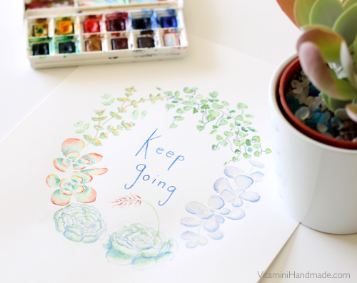 """Keep Going"" original watercolor"