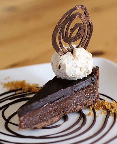 Chocolate Pecan Praline Tart IMG_0834 R