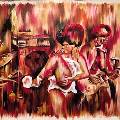 "me thinks she is done. #funksouldiva 32x26"" acrylic on canvas #sold"