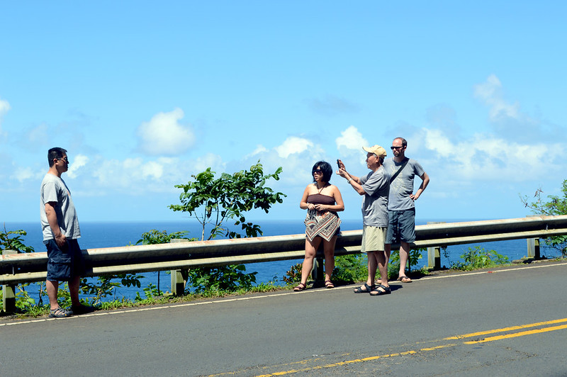 Taking Photos along the road to Hana