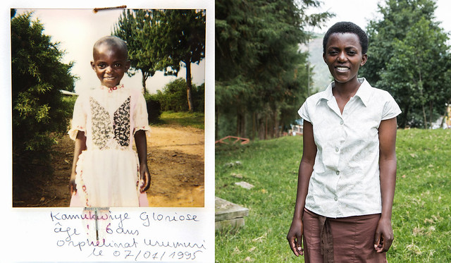 "Gloriose, Floduard's younger sister, was five years old in 1994.<br /> ""I felt like I was going to cry when I saw a photo of myself as a little girl,"" she said. ""No one ever talked to me about the events at that time to help me remember what I had been through.""<br /> ""When this photo was taken I still believed that everything was going to be okay and that my parents were still alive and that they would provide me with a happy life.""<br /> Gloriose is now at university. <br /> ""My dream is to be able to help my brother Flodouard by paying his children's school fees. My older brother sacrificed so much for me to have an education, so I hope to be able to return the favour for his children."""