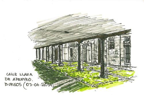 Soportales de la Llana de adentro, en Burgos