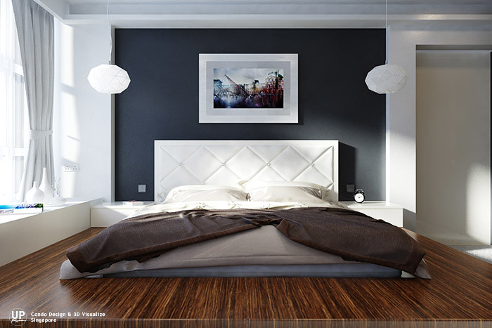 Residential_Interior Design Idea_Bedroom platform bed_Condominium_Palm Oasis, Singapore_02