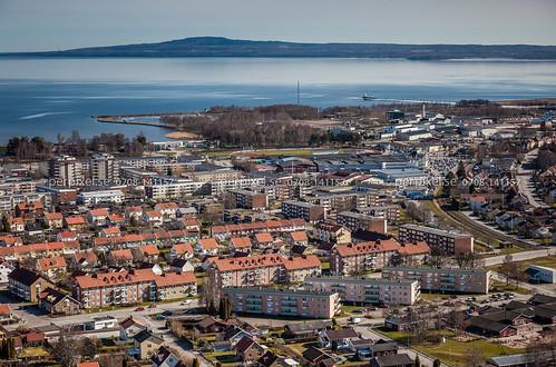 sverige swe lidköping västragötaland flygfoto