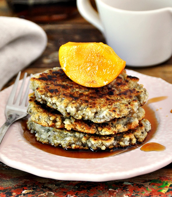 Flourless Chia Seeds Pancakes, Vegan Friendly & Gluten Free | www.fussfreecooking.com