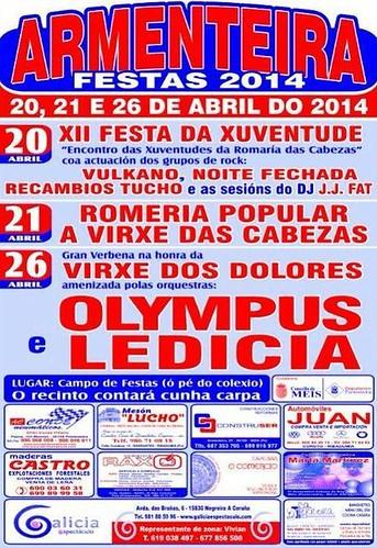 Meis 2014 - Festas de Armenteira - cartel