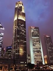 Singapore Sky #iphone #singapore #night #towers #violet #sky #clouds