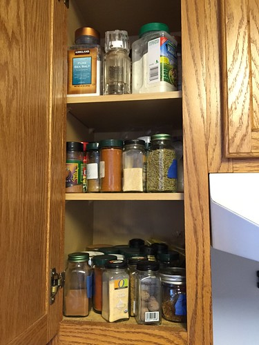 Messy cabinet