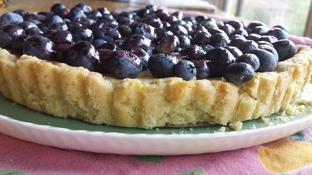 Sour Cream Blueberry Tart