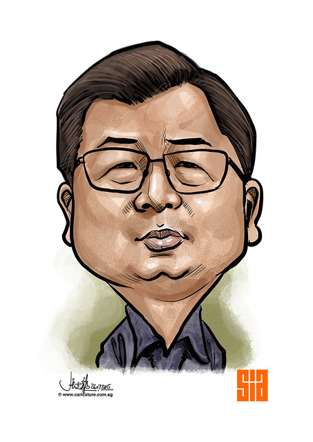 Digital caricature for Singapore Institute of Architects - 5