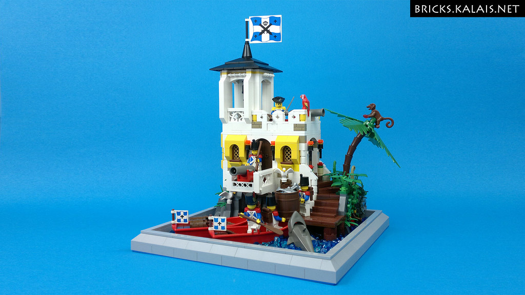 Bluecoats small fort and… hidden pirate (custom built Lego model)