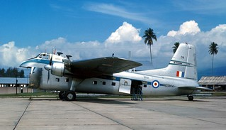 1966 RNZAF Bristol Freighter NZ5904 at RAAF Butterworth