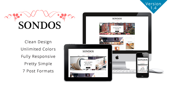 Sondos v1.4 - Clean WordPress Blogging Theme