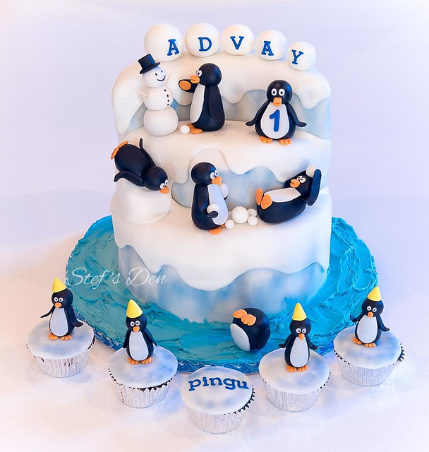 Penguin Cake by Stef's Den