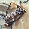 Little owl #owlpendant #wirependant #wirewrapped #czechglass #heartshape #rustywire #lilrubyjewelry #necklace #handmade