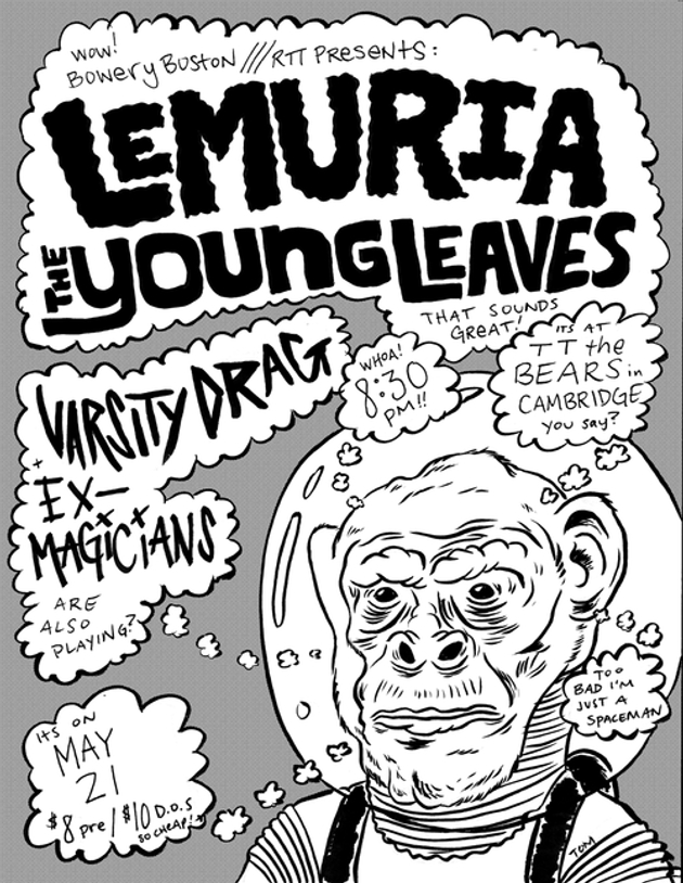 Lemuria, The Young Leaves, Varsity Drag, Ex-Magicians | TT The Bear's | 21 May