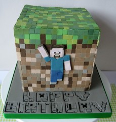 Minecraft cake for a special family birthday