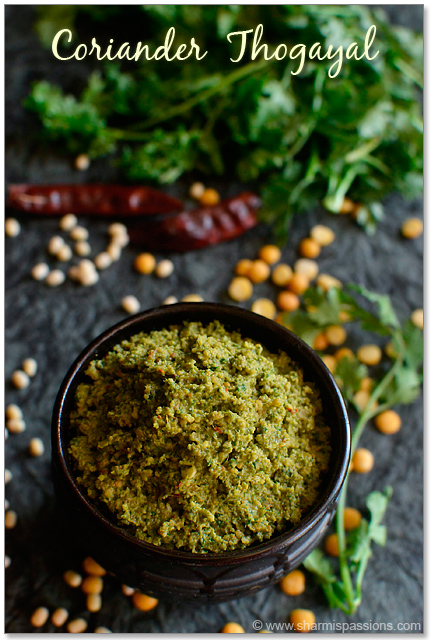 Coriander Thogayal Recipee