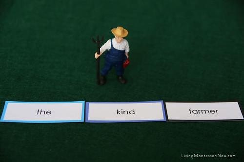 Montessori Grammar Farm - Article, Adjective, Noun