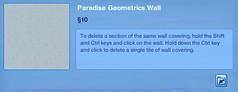 Paradise Geometrics Wall 2