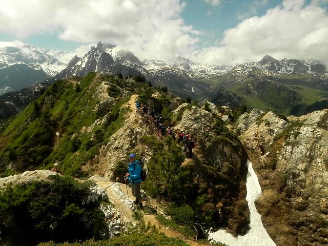 Sur le sentier des crêtes Dent du Villard (4)