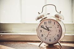 decor, brown, white, alarm clock, clock,