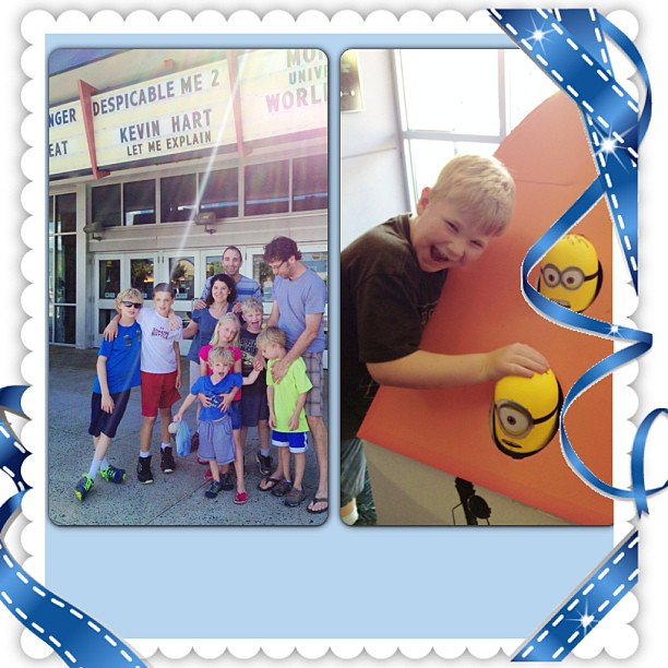 Celebrating his birthday with family and minions... #macefamilysummer