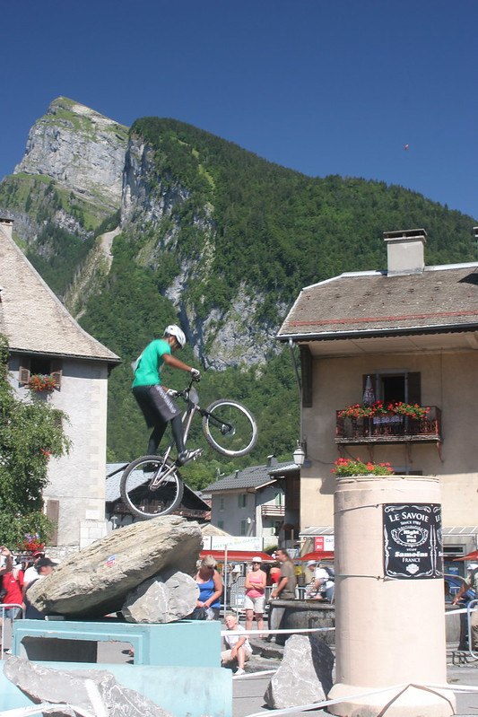 Trial biking competition in Samoens - not for the faint-hearted