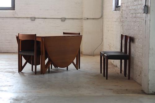 Sensational Kurt Ostervig Danish Mid Century Modern Drop Leaf Teak Dining Table for Jason Mobler (Denmark, 1960s)