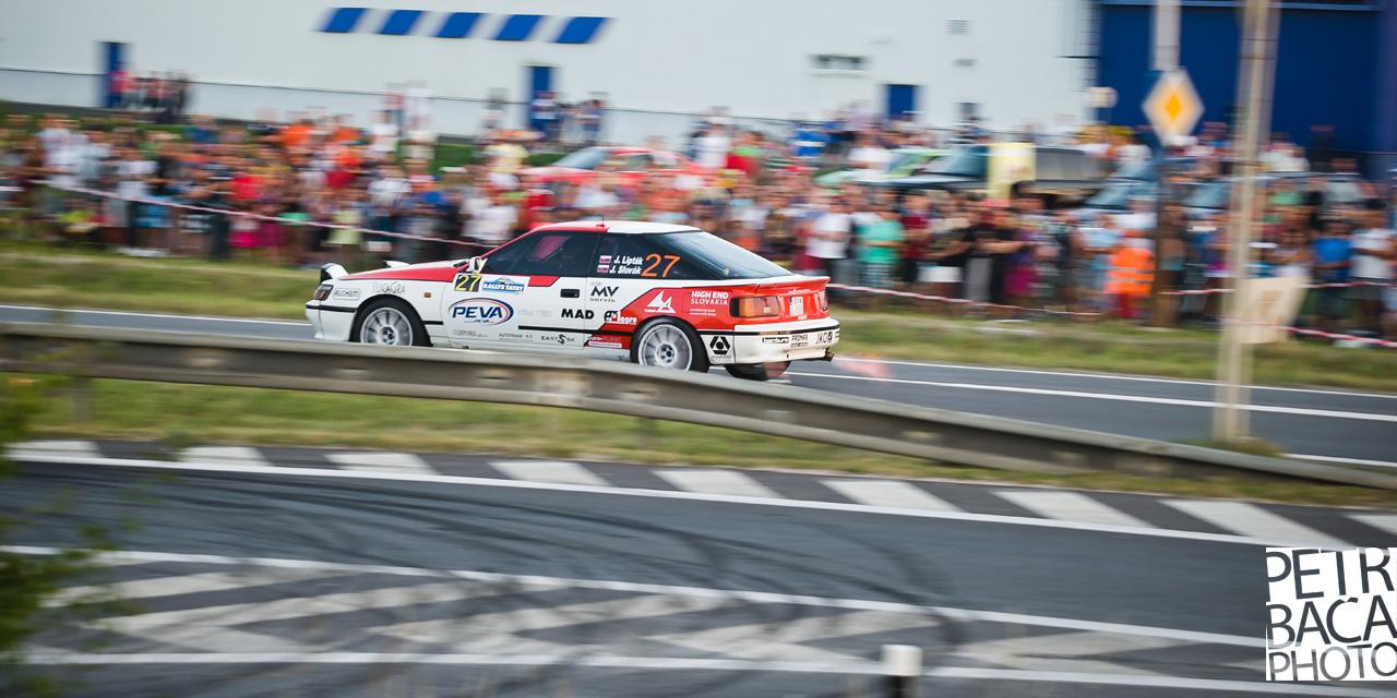 Rally Tatry 2013, RZ1, Městská, Toyota Celica ST165
