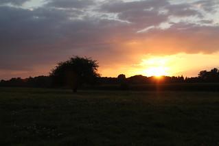 Sonnenuntergang bei Rümpel