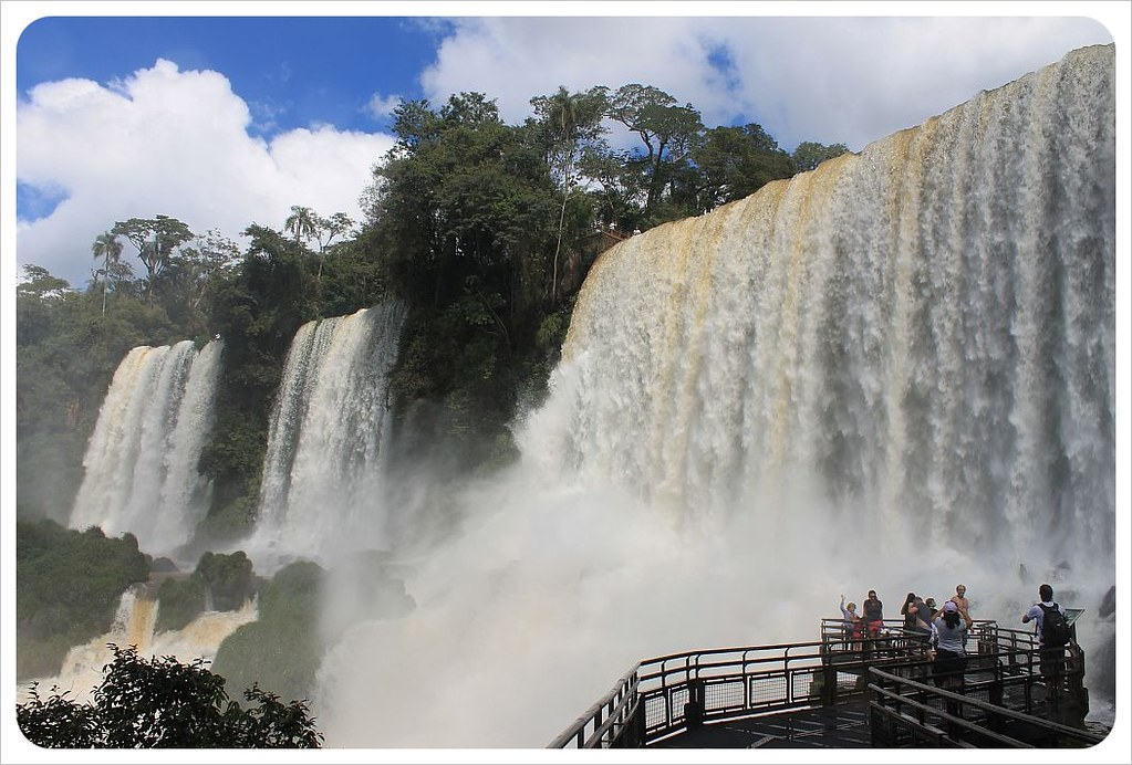 iguazu falls waterfalls viewing platform