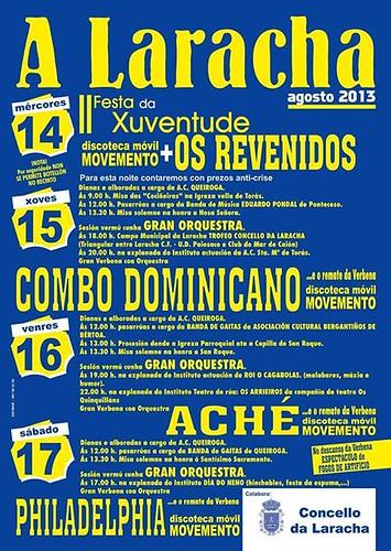 A Laracha 2013 - Festas patronais - cartel