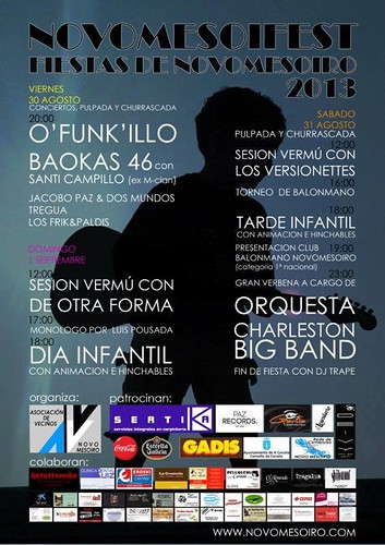 A Coruña 2013 - Festas de Novo Mesoiro - cartel